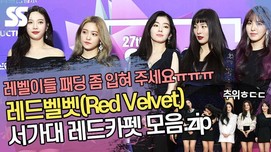 '출석률 甲' 레드벨벳 하이원 서울가요대상 레드카펫 영상 모음 [Red Velvet SMA 2016~2019]