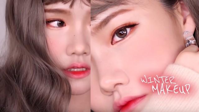 겨울 스킨케어 + 쿨톤 메이크업 ❄️ + 웹툰추천   冬のナチュラルメイク / winter makeup
