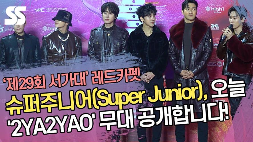 슈퍼주니어(Super Junior), 오늘 '2YA2YAO' 무대 공개합니다!  ('제29회 서울가요대상 레드카펫')