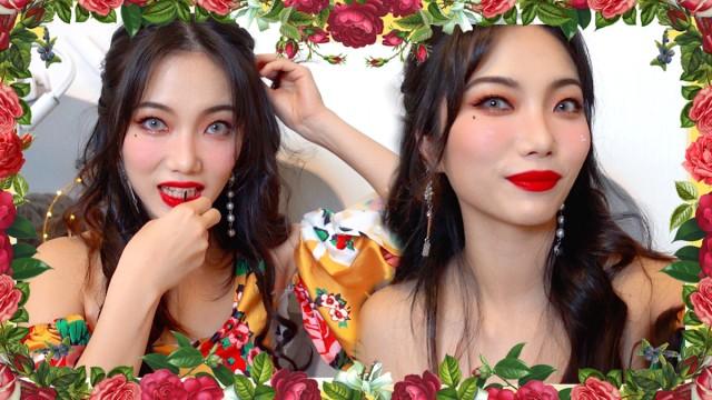 HYUNA COVER MAKEUP | FLOWER SHOWER | FAIRY TINA