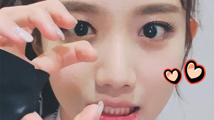 [Cherry Bullet] 극도로 깜찍한 윙크는 눈 깜빡이는 것과 구별할 수 없습니다(*◡‿◡)💕 (YUJU showing wink)