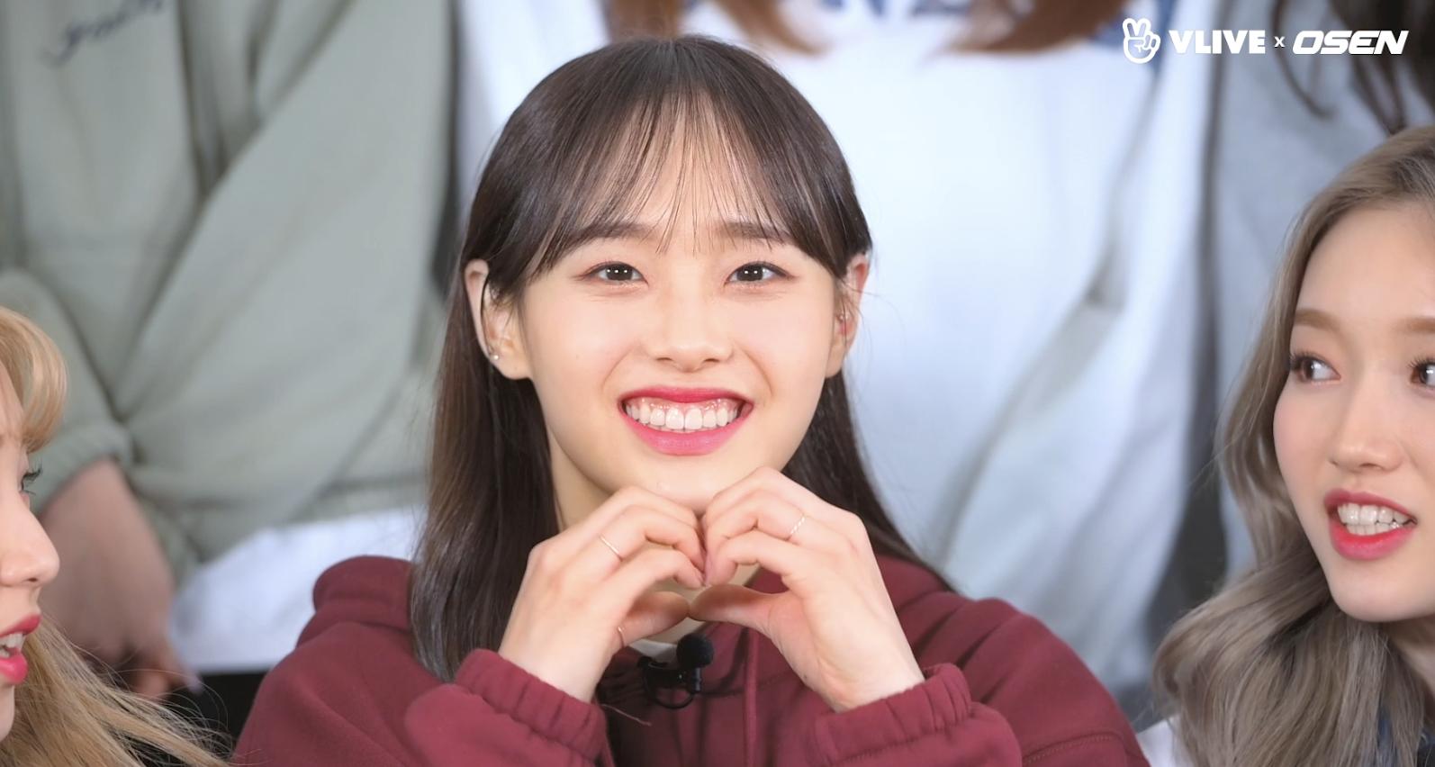 LOONA 이달의 소녀, 츄의 취미는 하트 만들기? #연습실챌린지 06