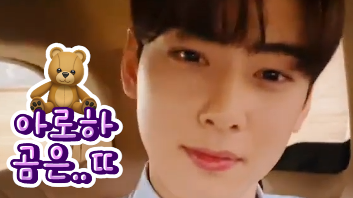 [ASTRO] 🤗: 아로하 곰은.. 뚱뚱해~🎶 👥: 뚱ㄸ..뚱땡이!!?! 뚱땡이이잉!!??! (EUNWOO singing 'Three Bears')