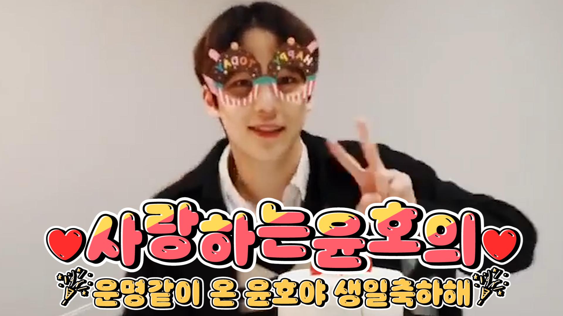 [ATEEZ] 말랑딸기볼 대왕강쥐 태어나자마자 전국민이 Olleh!!를 외쳤죠🎉🐶🍓 (HAPPY YUNHO DAY!)