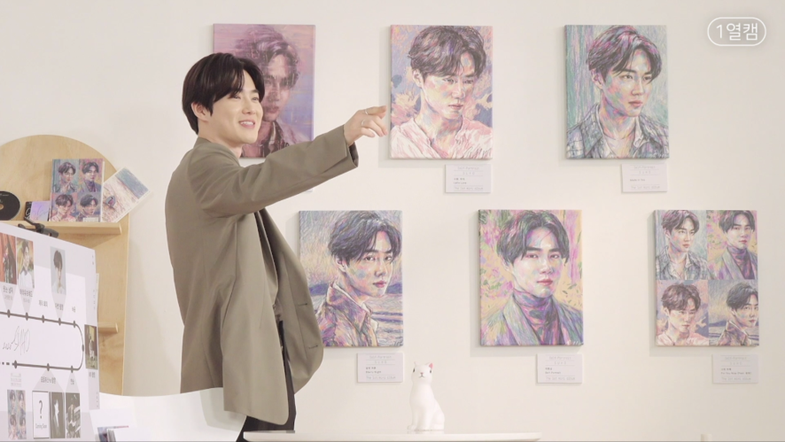Front Row Cam | Section1: Suho🐰 & Self-Portrait🖼 @Suho Exhibit: Let's Love