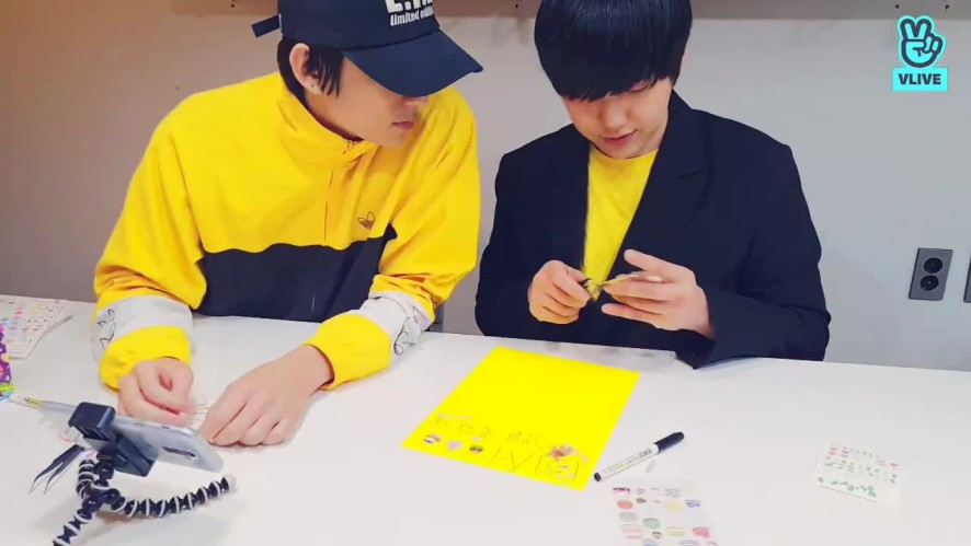 Sandeul and Gongchan Writing a Mysterious Letter💌