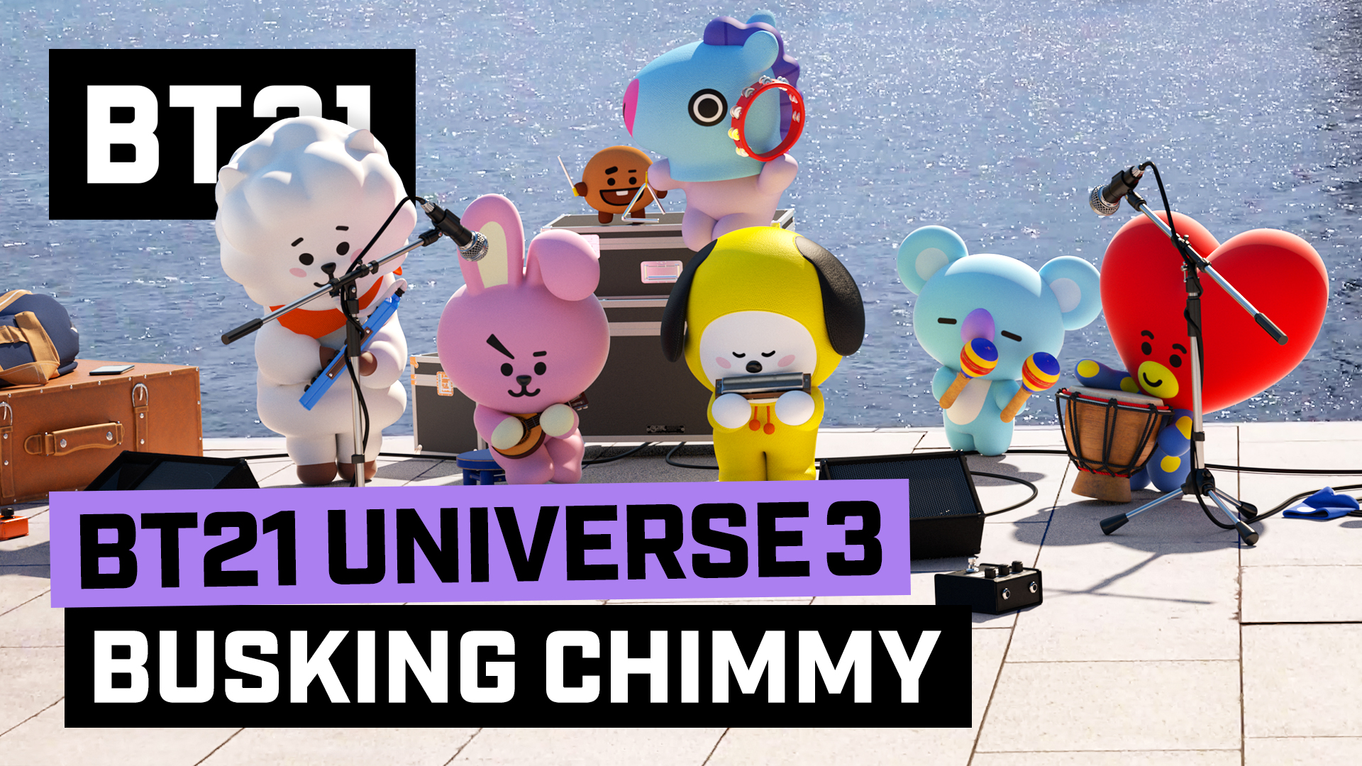 BT21 UNIVERSE 3 ANIMATION EP.02 - Busking CHIMMY