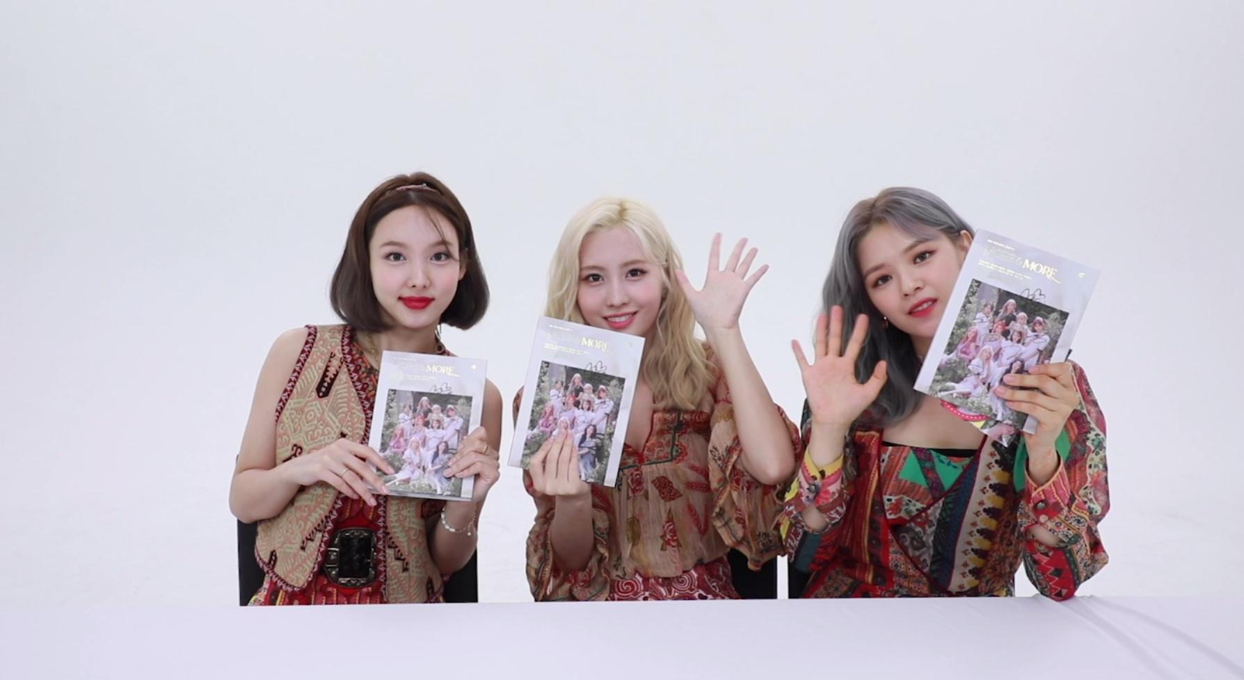 "TWICE(트와이스)'s Album Unboxing ""MORE & MORE"" – 나연 정연 모모"