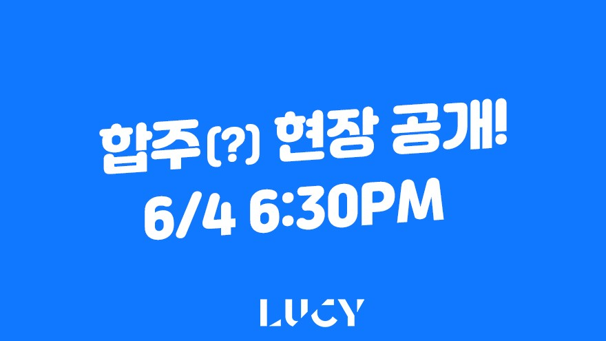 LUCY 합주실 라이브