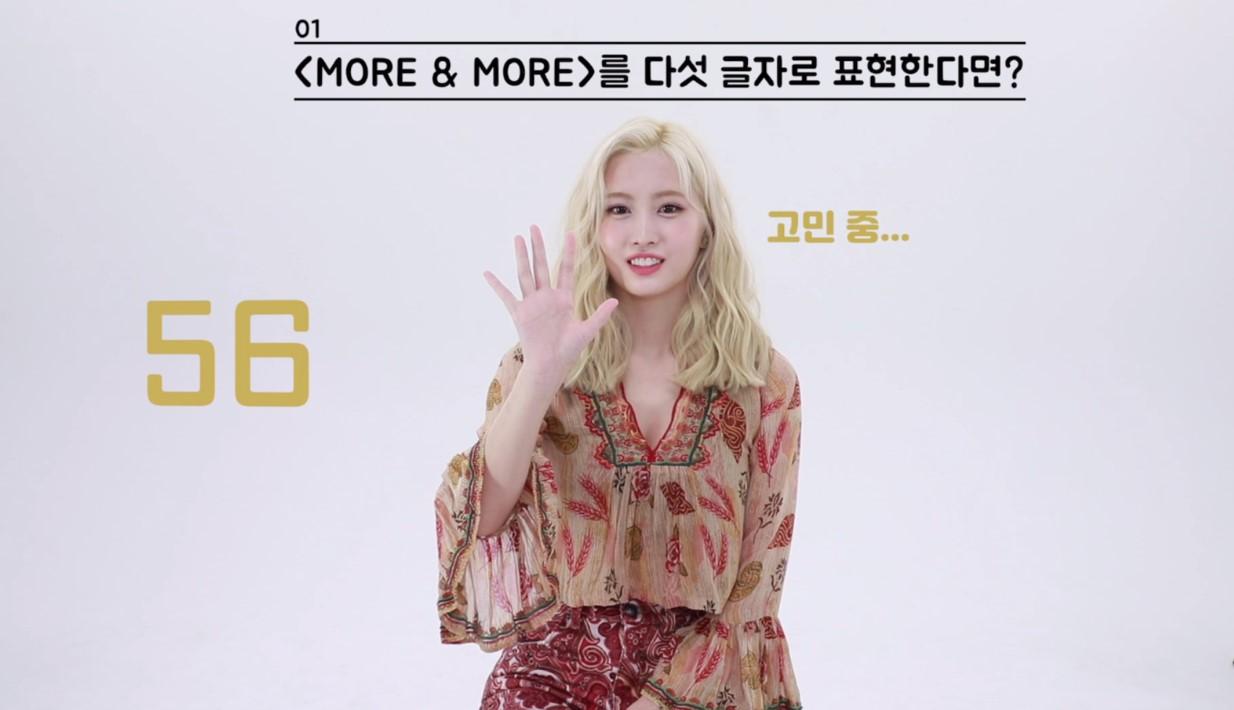 "TWICE(트와이스) ""MORE & MORE"" 60초 스피드 인터뷰_모모"