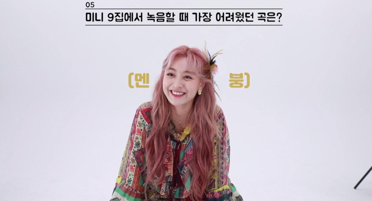 "TWICE(트와이스) ""MORE & MORE"" 60초 스피드 인터뷰_지효"