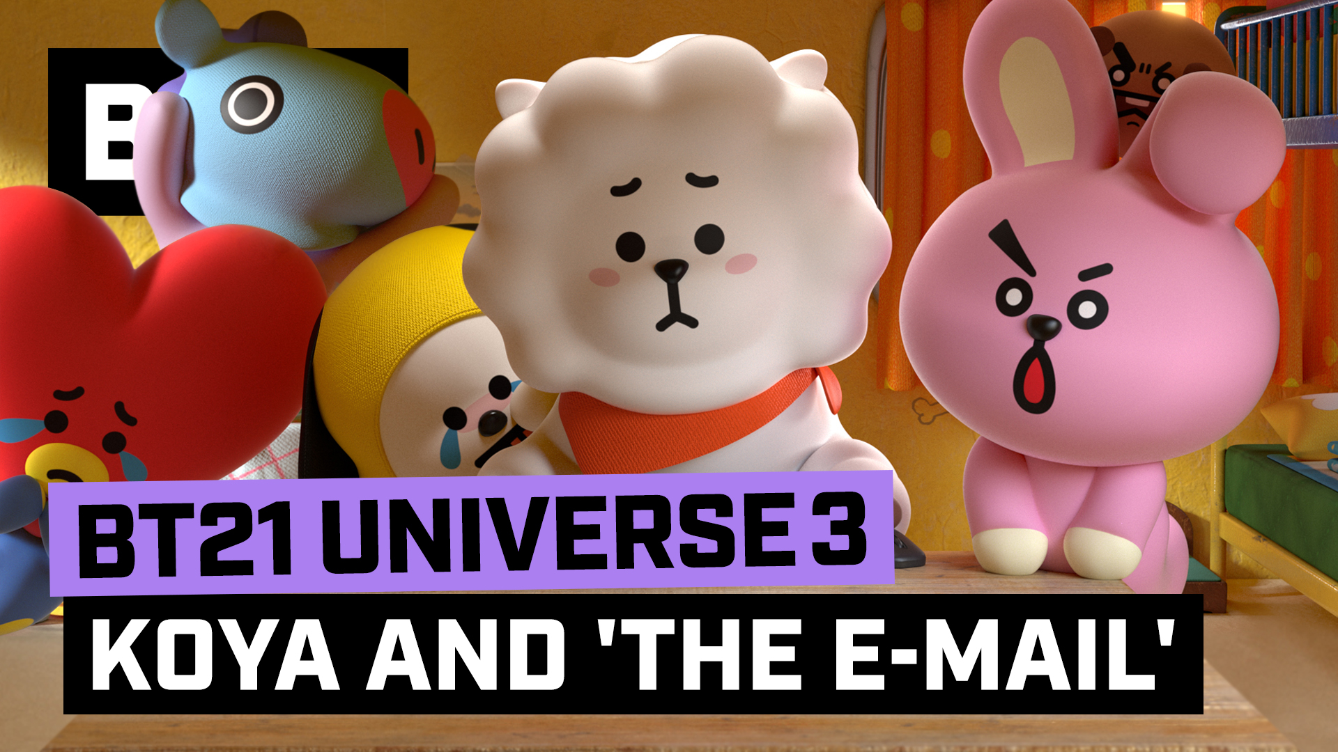 BT21 UNIVERSE 3 ANIMATION EP.05 - KOYA and the 'E-mail'