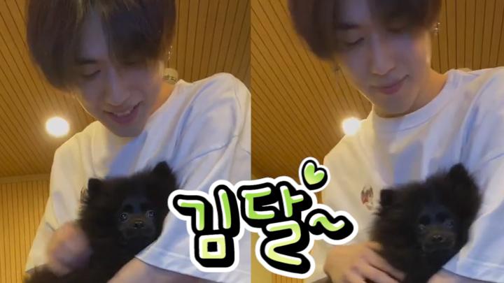[GOT7] 21세기에는 달겸이가 브이앱을 하네..🐶🌼 (YUGYEOM showing his puppy)