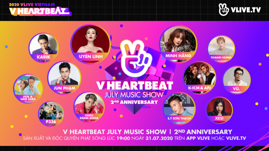 V HEARTBEAT JULY MUSIC SHOW - 2ND ANNIVERSARY