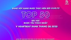 Top 50 V HEARTBEAT Rank Tháng 8