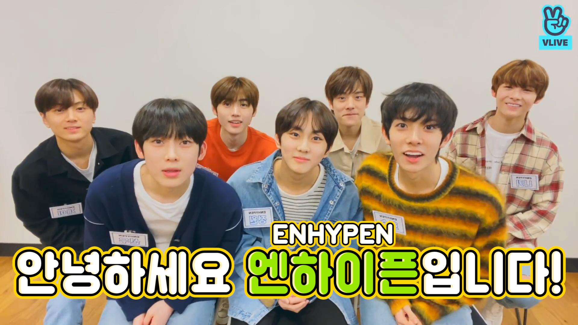 [ENHYPEN] 괜찮아! 엔하이픈이 귀여워서 호흡이 멈췄을 뿐이야! (ENHYPEN's first V!)
