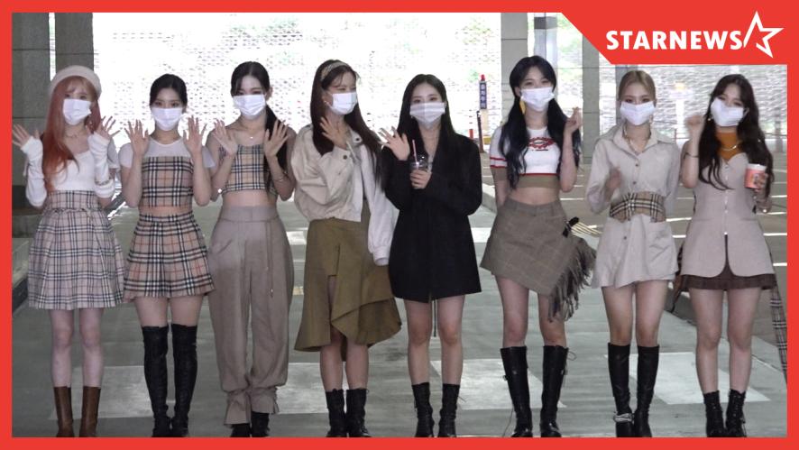 ★프로미스나인 (fromis_9),  '마스크 뚫고 나오는 꽃주얼'  쇼!챔피언 출근길 (201014)