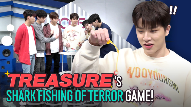 [Pops in Seoul] MMM~♬ Today's game♟ for TREASURE(트레저) - 'Shark fishing of terror🦈'
