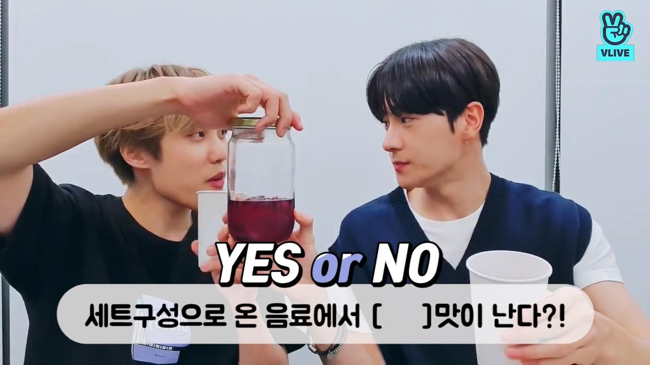"[THE BOYZ] ""그 맛""이 나는 에이드에 치얼쓰..🍷🌟 (JACOB&HYUNJAE's eating V)"