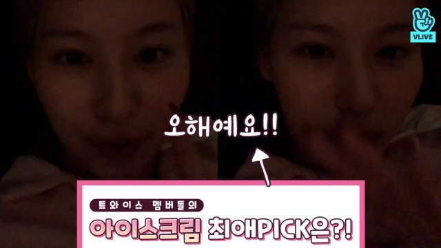 [TWICE] 이제는 말할 수 있다! 사나의 최애맛은 민초가 아니었다?!🐹🍦 (SANA talking about her favoriteicecreamflavor)