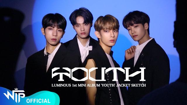 루미너스(LUMINOUS) 1st MINI ALBUM 'YOUTH' JACKET SKETCH